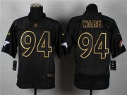 Wholesale Cheap Nike Broncos #94 DeMarcus Ware Black Gold No. Fashion Men's Stitched NFL Elite Jersey