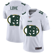 Wholesale Cheap Green Bay Packers #10 Jordan Love White Men's Nike Team Logo Dual Overlap Limited NFL Jersey