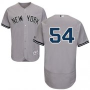 Wholesale Cheap Yankees #54 Aroldis Chapman Grey Flexbase Authentic Collection Stitched MLB Jersey