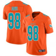 Wholesale Cheap Nike Dolphins #98 Raekwon Davis Orange Men's Stitched NFL Limited Inverted Legend Jersey