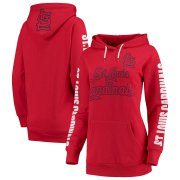 Wholesale Cheap St. Louis Cardinals G-III 4Her by Carl Banks Women's Extra Innings Pullover Hoodie Red