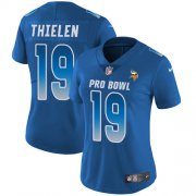 Wholesale Cheap Nike Vikings #19 Adam Thielen Royal Women's Stitched NFL Limited NFC 2019 Pro Bowl Jersey
