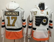 Wholesale Cheap Flyers #17 Wayne Simmonds White 3rd Name & Number Pullover NHL Hoodie