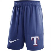 Wholesale Cheap Men's Texas Rangers Nike Royal Dry Fly Shorts