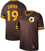 Wholesale Cheap Nike Padres #19 Tony Gwynn Brown Authentic Cooperstown Collection Stitched MLB Jersey