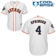 Wholesale Cheap Astros #4 George Springer White New Cool Base 2019 World Series Bound Stitched MLB Jersey