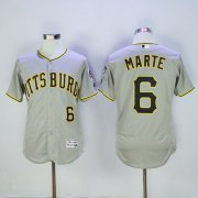 Wholesale Pirates #6 Starling Marte Grey Flexbase Authentic Collection Stitched Baseball Jersey