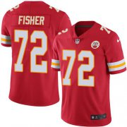 Wholesale Cheap Nike Chiefs #72 Eric Fisher Red Team Color Men's Stitched NFL Vapor Untouchable Limited Jersey