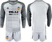 Wholesale Cheap Valencia Blank Grey Goalkeeper Long Sleeves Soccer Club Jersey
