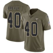 Wholesale Cheap Nike Saints #40 Delvin Breaux Olive Men's Stitched NFL Limited 2017 Salute To Service Jersey