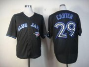 Wholesale Cheap Blue Jays #29 Joe Carter Black Fashion Stitched MLB Jersey