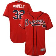 Wholesale Cheap Braves #32 Cole Hamels Red Flexbase Authentic Collection Stitched MLB Jersey