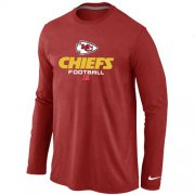 Wholesale Cheap Nike Kansas City Chiefs Critical Victory Long Sleeve T-Shirt Red