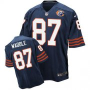 Wholesale Nike Bears #87 Tom Waddle Navy Blue Throwback Men's Stitched NFL Elite Jersey