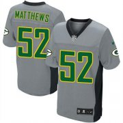 Wholesale Cheap Nike Packers #52 Clay Matthews Grey Shadow Youth Stitched NFL Elite Jersey