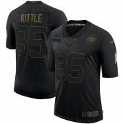 Cheap San Francisco 49ers #85 George Kittle Nike 2020 Salute To Service Limited Jersey Black