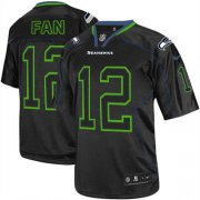 Wholesale Cheap Nike Seahawks #12 Fan Lights Out Black Men's Stitched NFL Elite Jersey