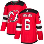 Wholesale Cheap Adidas Devils #6 Andy Greene Red Home Authentic Stitched NHL Jersey