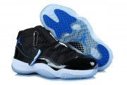Wholesale Cheap Womens Air Jordan 11 (XI) Retro Shoes black/blue-white