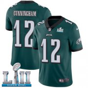 Wholesale Cheap Nike Eagles #12 Randall Cunningham Midnight Green Team Color Super Bowl LII Youth Stitched NFL Vapor Untouchable Limited Jersey