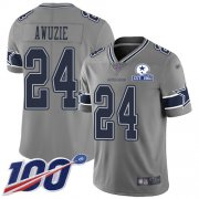 Wholesale Cheap Nike Cowboys #24 Chidobe Awuzie Gray Men's Stitched With Established In 1960 Patch NFL Limited Inverted Legend 100th Season Jersey
