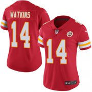 Wholesale Cheap Nike Chiefs #14 Sammy Watkins Red Team Color Women's Stitched NFL Vapor Untouchable Limited Jersey