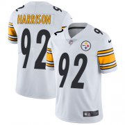 Wholesale Cheap Nike Steelers #92 James Harrison White Men's Stitched NFL Vapor Untouchable Limited Jersey