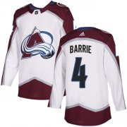Wholesale Cheap Adidas Avalanche #4 Tyson Barrie White Road Authentic Stitched NHL Jersey