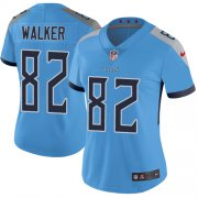 Wholesale Cheap Nike Titans #82 Delanie Walker Light Blue Alternate Women's Stitched NFL Vapor Untouchable Limited Jersey