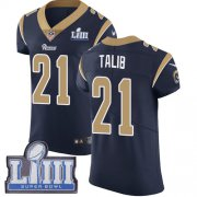 Wholesale Cheap Nike Rams #21 Aqib Talib Navy Blue Team Color Super Bowl LIII Bound Men's Stitched NFL Vapor Untouchable Elite Jersey