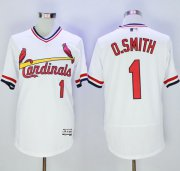 Wholesale Cheap Cardinals #1 Ozzie Smith White Flexbase Authentic Collection Cooperstown Stitched MLB Jersey
