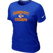 Wholesale Cheap Women's Nike Kansas City Chiefs Heart & Soul NFL T-Shirt Blue