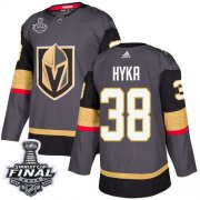 Wholesale Cheap Adidas Golden Knights #38 Tomas Hyka Grey Home Authentic 2018 Stanley Cup Final Stitched NHL Jersey