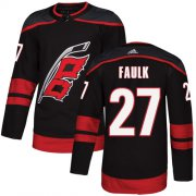 Wholesale Cheap Adidas Hurricanes #27 Justin Faulk Black Alternate Authentic Stitched Youth NHL Jersey