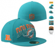 Wholesale Cheap Miami Dolphins fitted hats 05