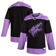 Wholesale Cheap Arizona Coyotes Adidas Hockey Fights Cancer Practice Jersey Black