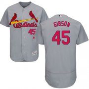 Wholesale Cheap Cardinals #45 Bob Gibson Grey Flexbase Authentic Collection Stitched MLB Jersey