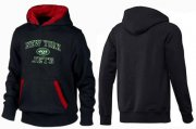 Wholesale Cheap New York Jets Heart & Soul Pullover Hoodie Black & Red