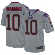 Wholesale Cheap Nike Giants #10 Eli Manning Lights Out Grey Men's Stitched NFL Elite Jersey