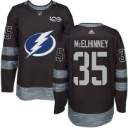 Cheap Adidas Lightning #35 Curtis McElhinney Black 1917-2017 100th Anniversary Stitched NHL Jersey