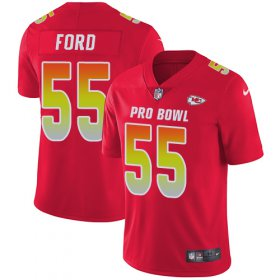 Wholesale Cheap Nike Chiefs #55 Dee Ford Red Youth Stitched NFL Limited AFC 2019 Pro Bowl Jersey