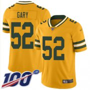 Wholesale Cheap Nike Packers #52 Rashan Gary Gold Men's Stitched NFL Limited Inverted Legend 100th Season Jersey