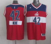 Wholesale Cheap Washington Wizards #42 Nene Hilario Revolution 30 Swingman 2014 Christmas Day Red Jersey