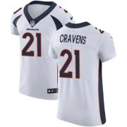 Wholesale Cheap Nike Broncos #21 Su'a Cravens White Men's Stitched NFL Vapor Untouchable Elite Jersey