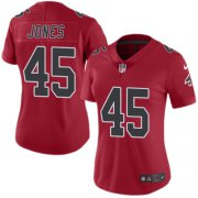 Wholesale Cheap Nike Falcons #45 Deion Jones Red Women's Stitched NFL Limited Rush Jersey
