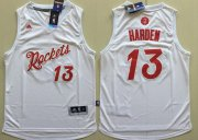 Wholesale Cheap Men's Houston Rockets #13 James Harden adidas White 2016 Christmas Day Stitched NBA Swingman Jersey