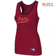 Wholesale Cheap Women's Nike Atlanta Braves Tri-Blend Racerback Stretch Tank Top Red