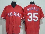 Wholesale Cheap Rangers #35 Cole Hamels Red New Cool Base Stitched MLB Jersey