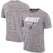 Wholesale Cheap Atlanta Braves Nike Authentic Collection Velocity Team Issue Performance T-Shirt Gray