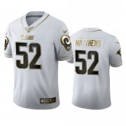 Wholesale Cheap Los Angeles Rams #52 Clay Matthews Men's Nike White Golden Edition Vapor Limited NFL 100 Jersey
